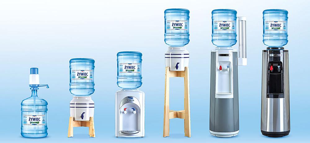Dystrybutory wody źródlanej
